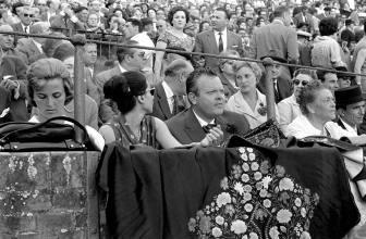 Orson Welles en la Real Maestranza de Sevilla.